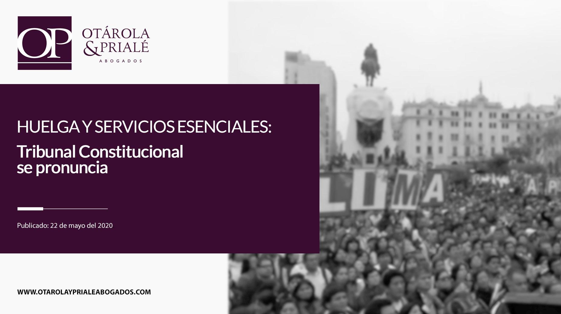 Huelga y servicios esenciales: Tribunal Constitucional se pronuncia
